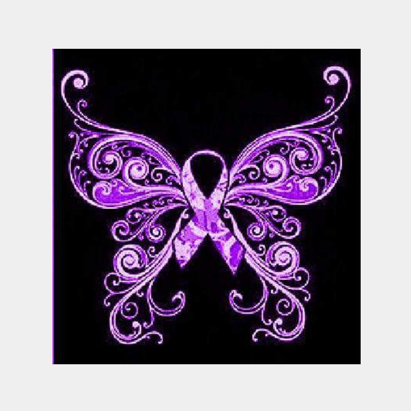 5D DIY Diamond Painting Purple Ribbon Butterfly - craft kit