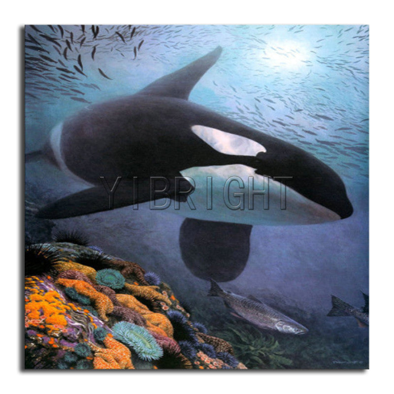5D DIY Diamond Painting Orca Underwater - craft kit