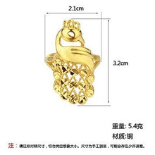 Large Gold Tone Intricate Openwork Adjustable Peacock Ring  in 4 style options