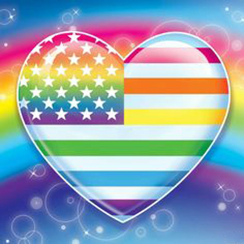 5D DIY Diamond Painting Rainbow Flag Heart - craft kit