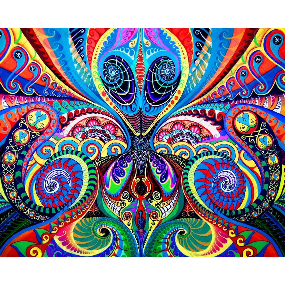 5D DIY Diamond Painting Bright Alien Fantasy Fractal - craft kit