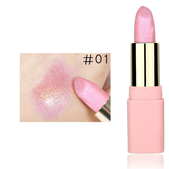 LULAA Colorful Pearl Holographic Lipstick 8 Color Options