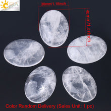 CSJA Clear Crystal Quartz Flat Back Oval Cabochon 13x18mm to 30x40mm