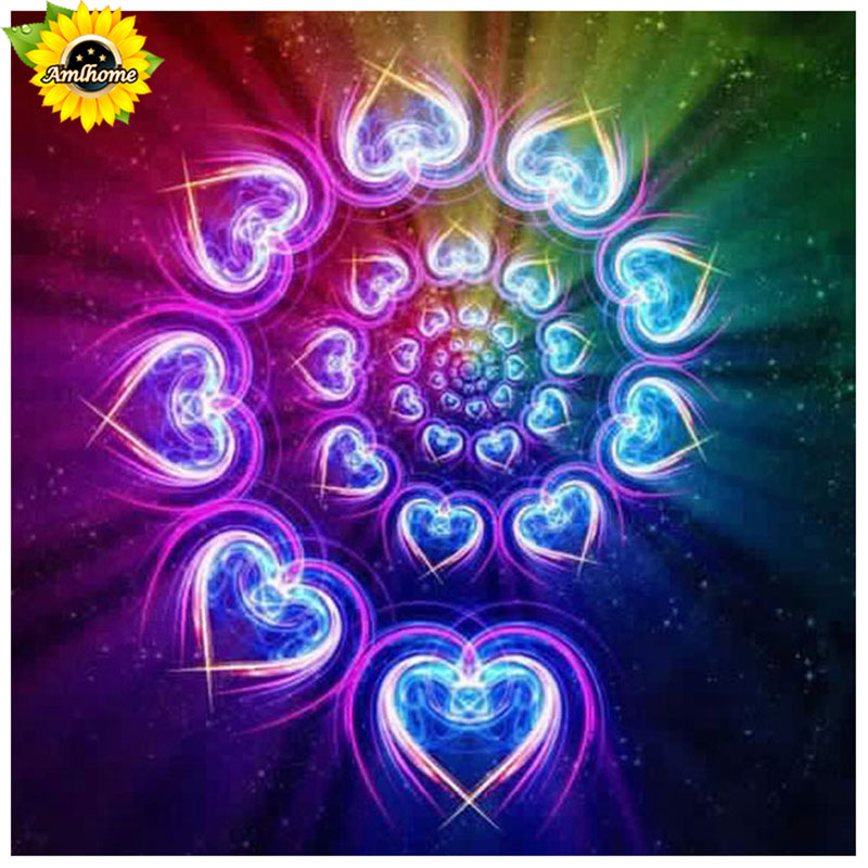 5D DIY Diamond Painting Prism Heart Swirls - craft kit
