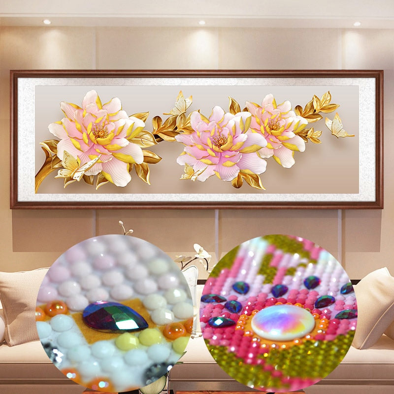 5D DIY Diamond Painting Gardenia Flowers - craft kit