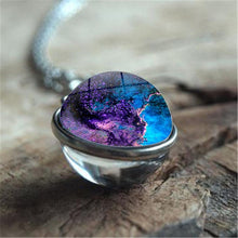 Galaxy Double Sided Pendant Glass Art Ball Necklace 8 options