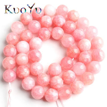 Natural Pink Angelite Stone Beads 15in Strand 4mm to 10mm
