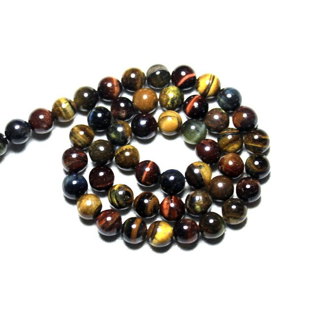 Natural Tiger Eye Round Stone Beads  4 to12 mm Strand 15 in 11 color options