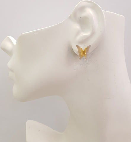 2 Butterflies Stud Earrings