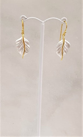 2 Tone- Leaf Earrings