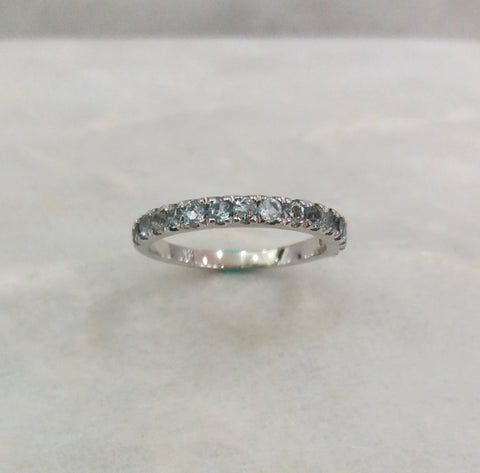 Blue Topaz Half Eternity Ring
