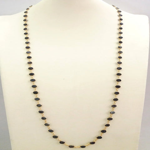 Black Agate Druzzy Geode Jeweled Necklace