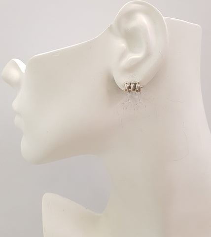 3 Birds Stud Earrings