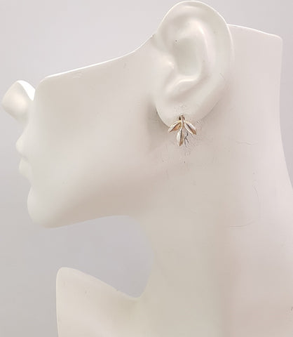 3 Leaf Stud Earrings