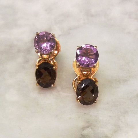 Amethyst & Smoky Quartz Separates Earrings