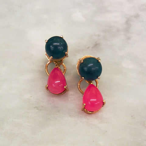 Apatite & Pink Agate Separates Earrings