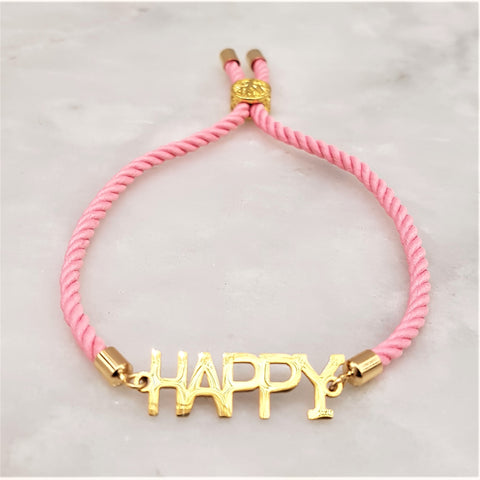 Dani Happy Corded Slider Bracelet