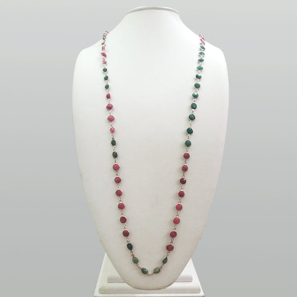 Emerald and Ruby Jeweled Chain Necklace