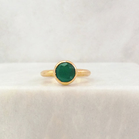 Green Agate Maxi Ring