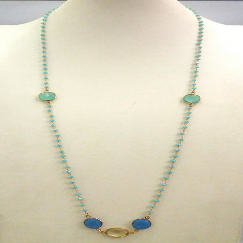 Seafoam station necklace