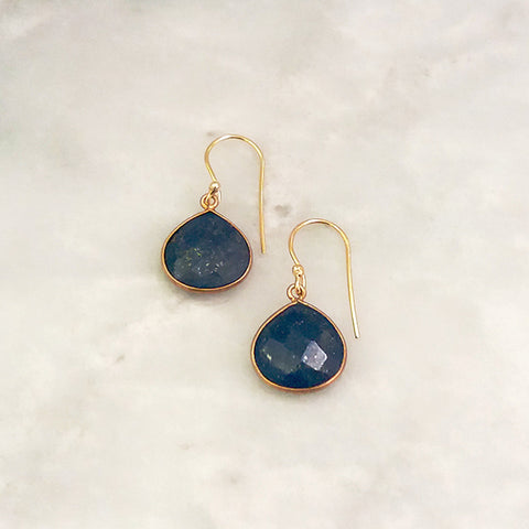 Lapiz Lazuli Single Drop Hook Earrings