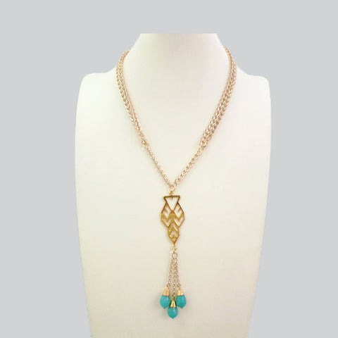 Lawin Pendant with Amazonite Adjustable Length Necklace