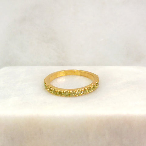 Peridot Half Eternity Ring