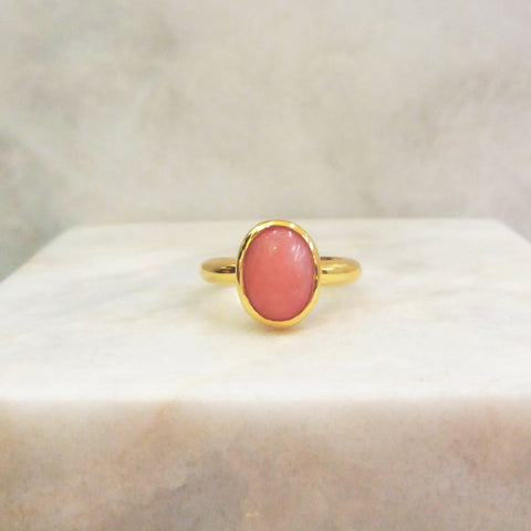 Pink Opal Maxi Ring