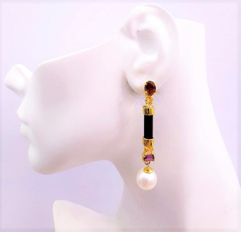 Roma with Pearl Twinset Earrings