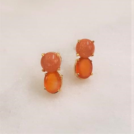 Sunstone & Carnelian Separates Earrings