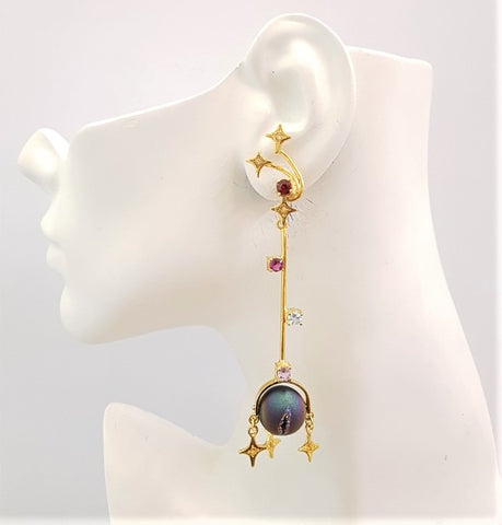 Moon & Stars Twinset Earrings