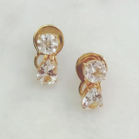White Topaz Separates Earrings