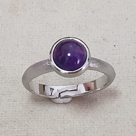 Amethyst Maxi Ring Matte Finish