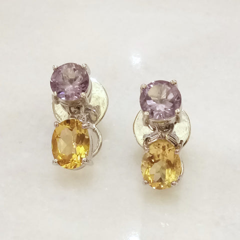 Amethyst & Citrine Separates Earrings