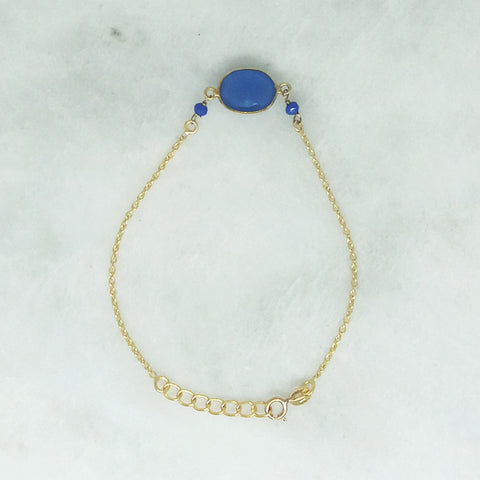 Blue Agate Single Bracelet