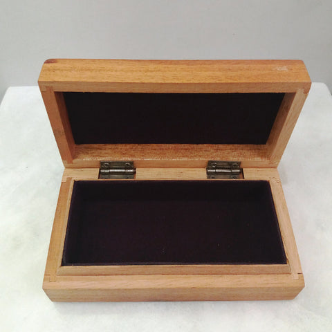 Mahogany with Rhodonite & Flourite Jewelry Box