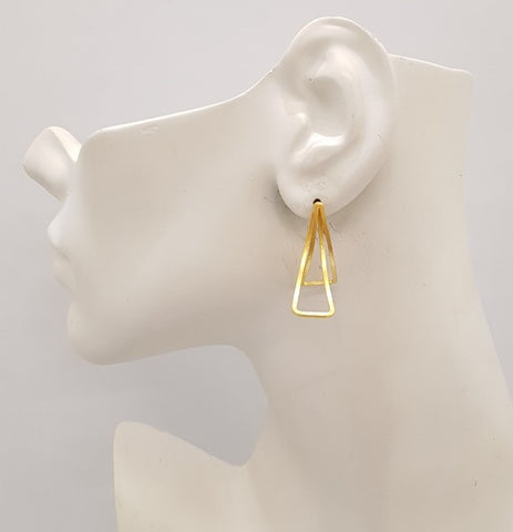 Intertwined Triangles Stud Earrings