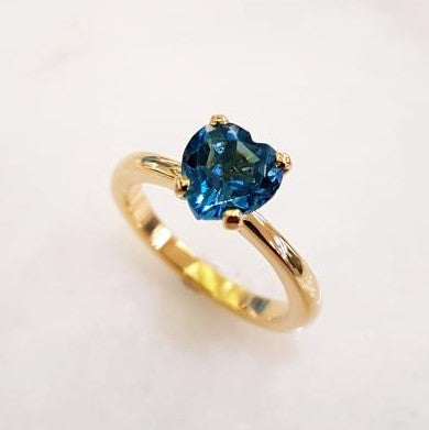 London Blue Topaz  Heart Tiffany Ring