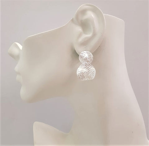 Lotus Leaf 2 Layer Stud Earrings