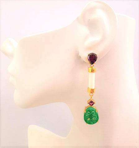 Lotus Root Twinset Earrings