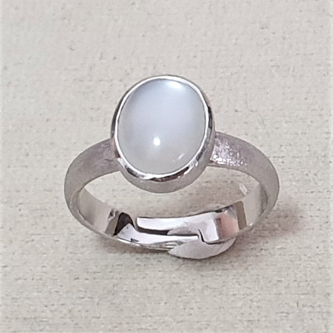 Moonstone Maxi Ring Matte Finish