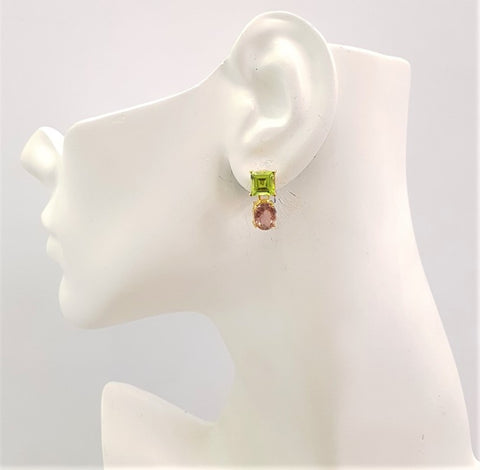 Peridot & Tourmaline Separates Earrings