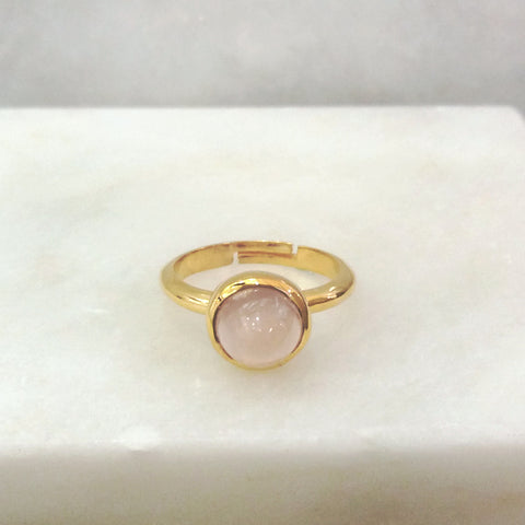 Rose Quartz Maxi Ring