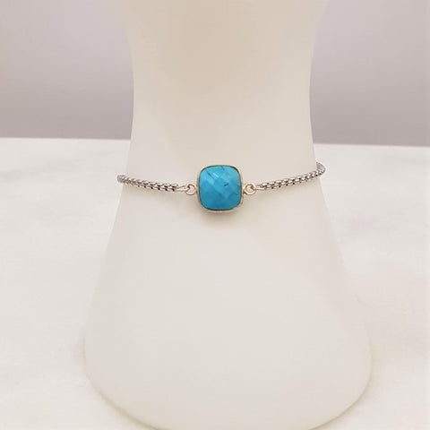 Turquoise Jeweled Slider Bracelet