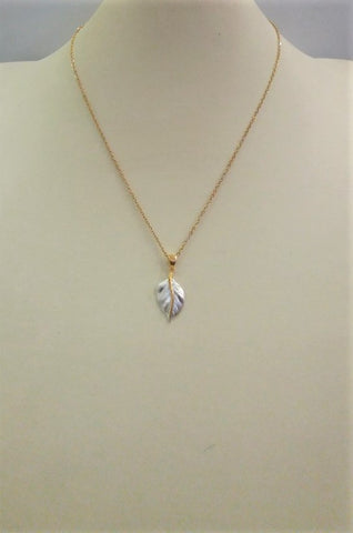 Two-tone Leaf Pendant
