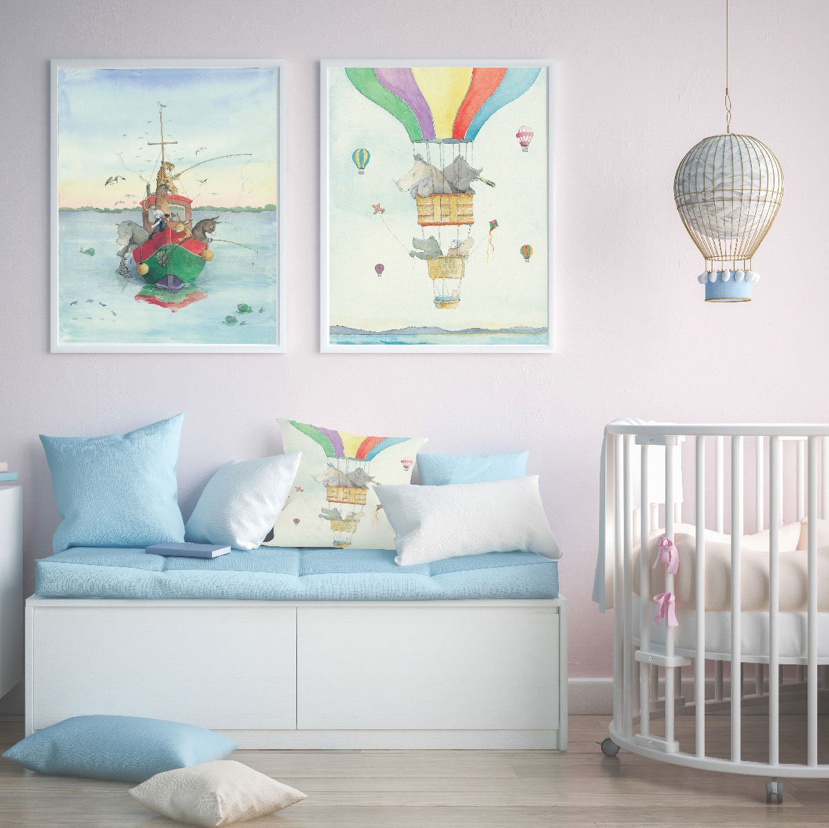 Soft Pastel And Watercolour Kids Wall Art