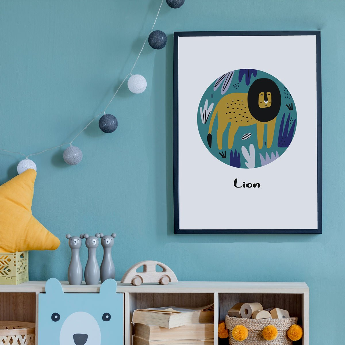 Lions, Tiger And Bears Kids Wall Art