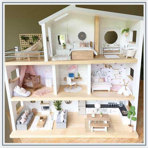 Whimsy Wood Designs Modern Dollhouse