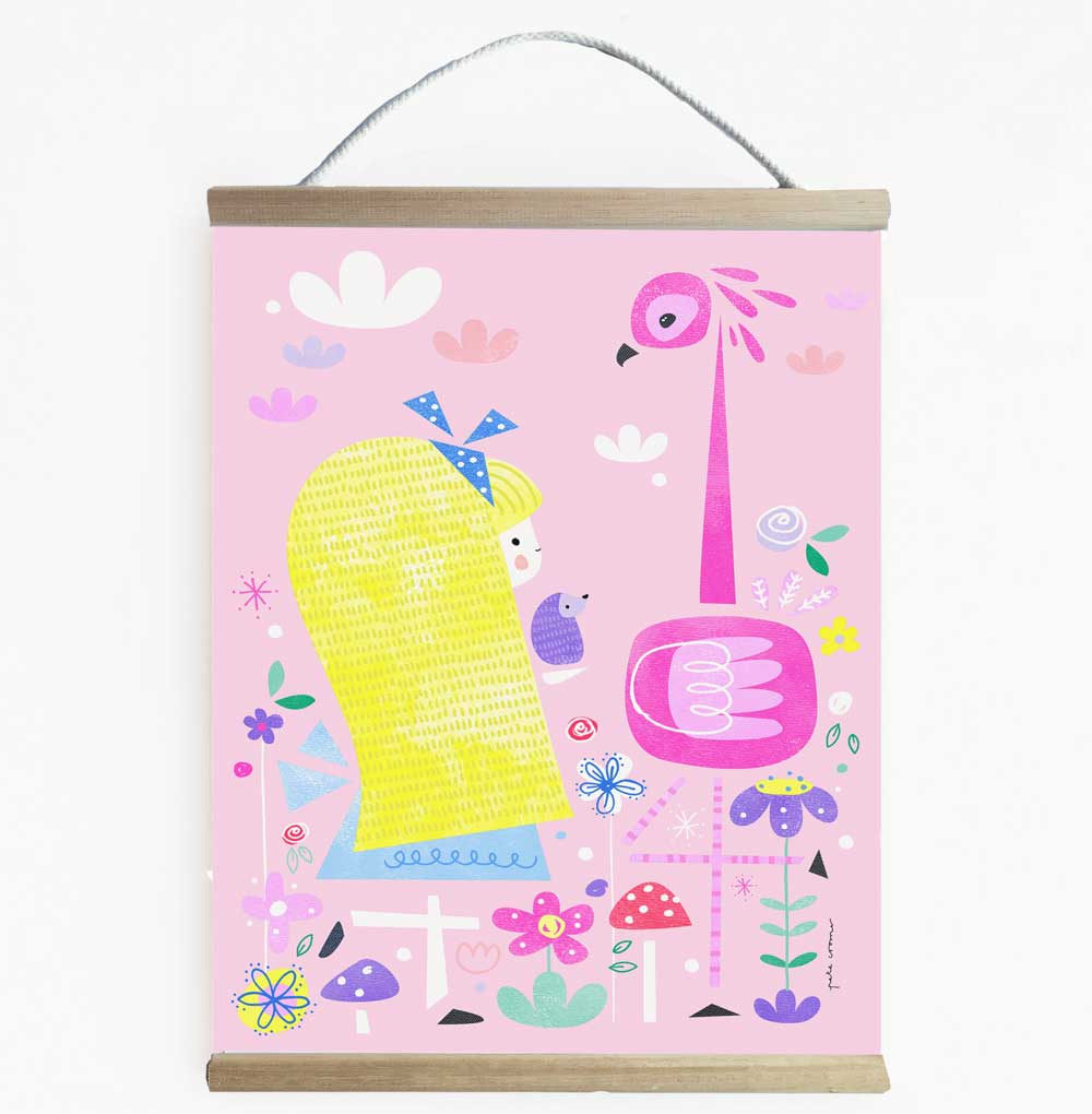 Bright And Fun Alice In Wonderland Wall Banner
