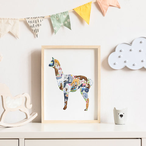 Alpaca Children's Print